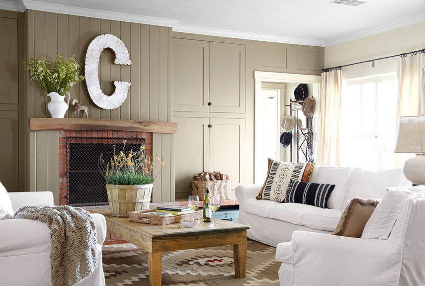Country home interior paint schemes