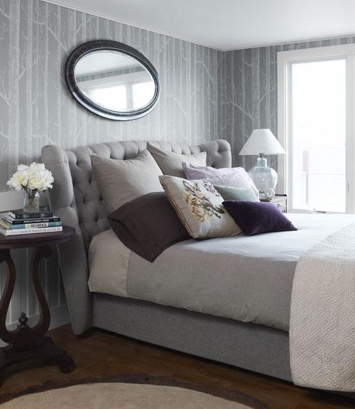 Celebrity bedrooms celebrity decorating ideas for Cuartos pintados de gris