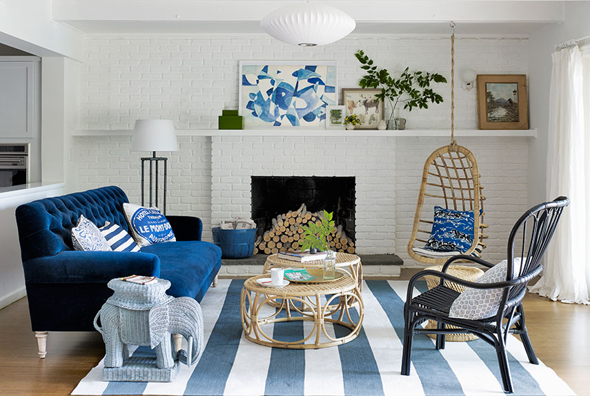 living room - Decorating Ideas For Blue Living Rooms