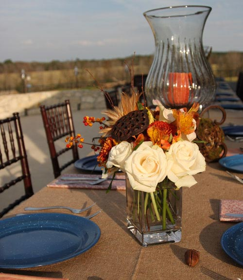 Country Living Fall Centerpiece : Fall dinner party ideas entertaining tips