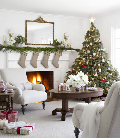 Country Farmhouse Christmas White Christmas Decor Ideas