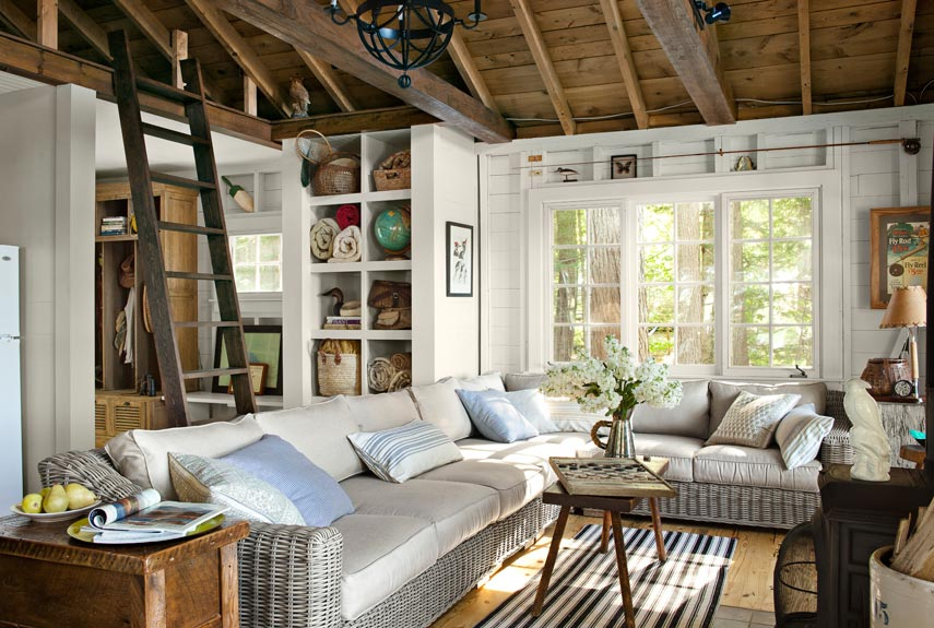 Superb Cozy Family Room Ideas Part - 10: Country Living Magazine