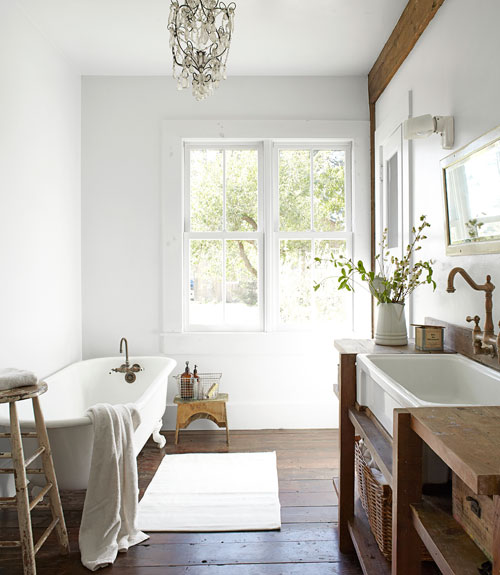 White Rustic Bathroom 30 white bathroom ideas - decorating with white for bathrooms
