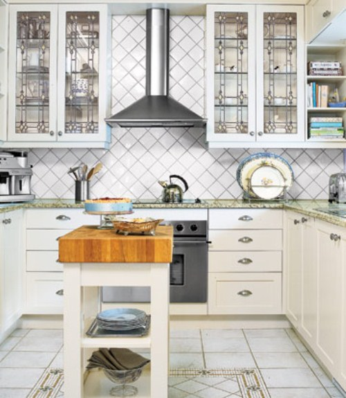 Pics For Rustic White Kitchens