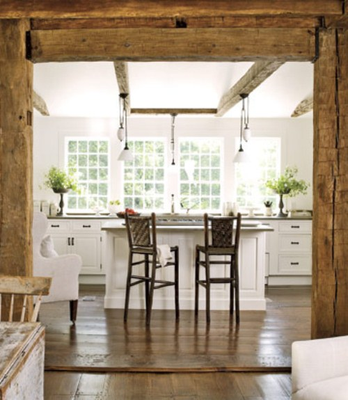 Pics for rustic white kitchens for White rustic kitchen designs