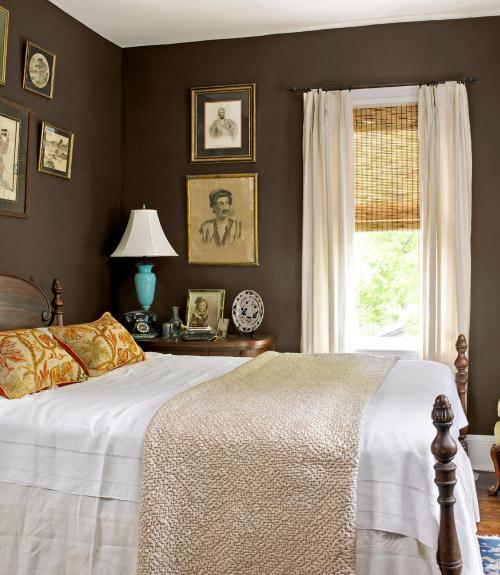 Decorating with brown pictures of brown rooms for Chocolate brown and blue bedroom ideas