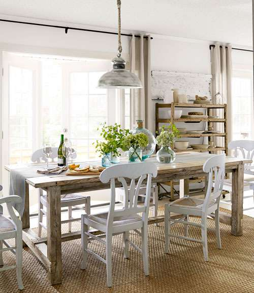 Farmhouse Dining Room Tables 85 best dining room decorating ideas - country dining room decor