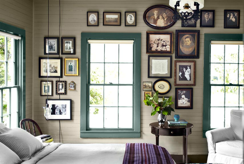 interior design my home. framed portraits wall How to Decorate with Dark Paint  Wall Colors