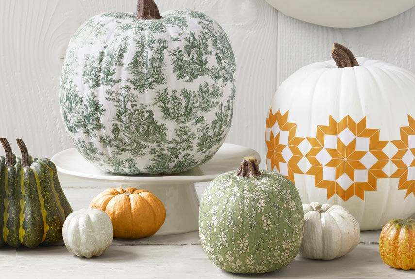 How To Decoupage A Pumpkin Halloween Decorating Ideas