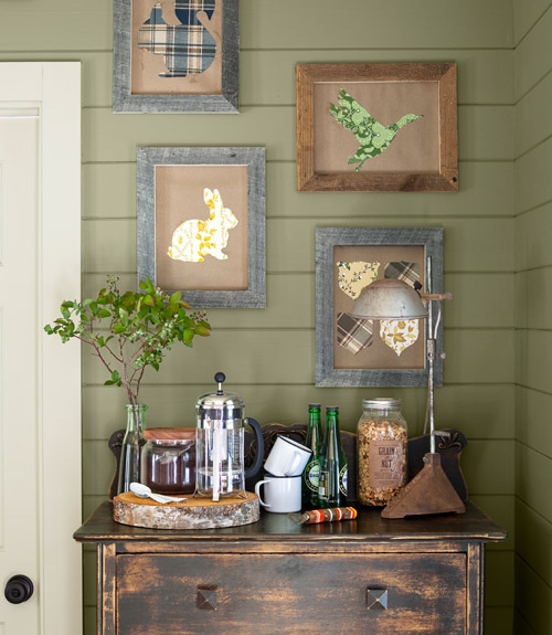 Country Wall Art how to hang pictures - creative ways to hang art