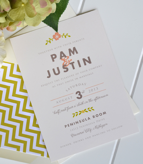 Affordable Handmade Wedding Invitations   Cheap Etsy Wedding Invitations