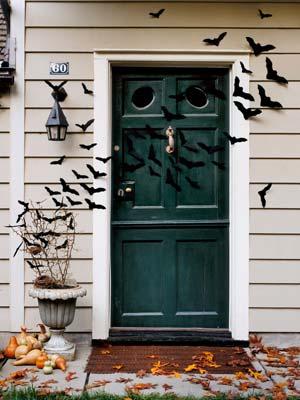 Buy It or DIY It: Cover Your Front Door with Bats & Bat-Filled Front Door- Halloween Craft Ideas Pezcame.Com