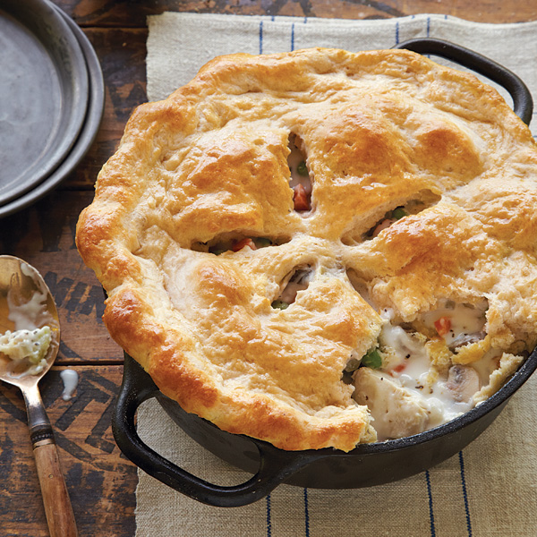 New England Chicken Potpie With Biscuit Crust