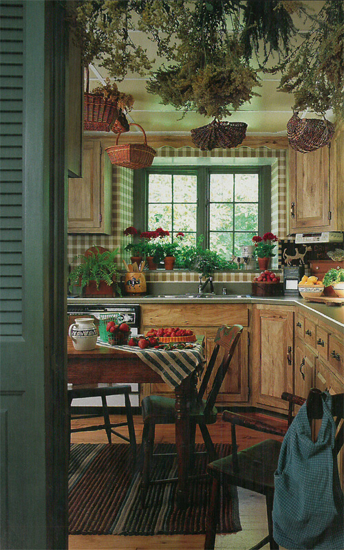 Vintage country living farmhouse kitchen for Country living kitchen designs