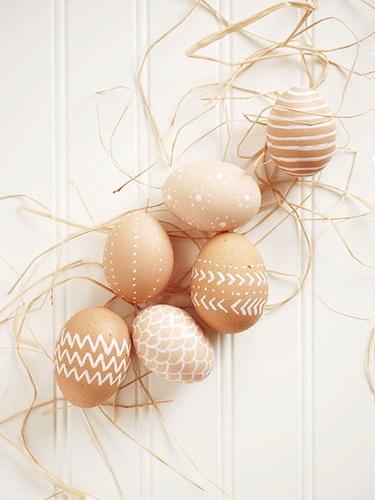 ongeverfde eieren