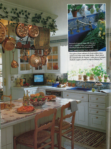 vintage country kitchen. Vintage Country Living  A Kitchen With European Flair