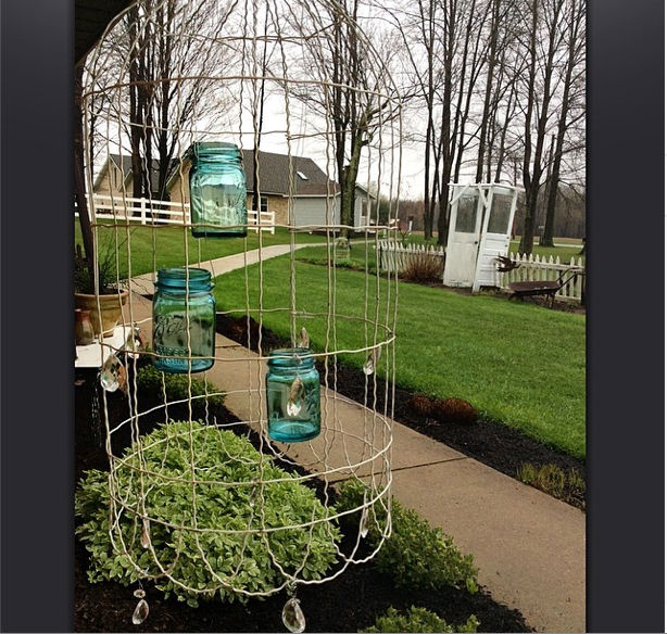 Easy DIY Chandelier For The Garden