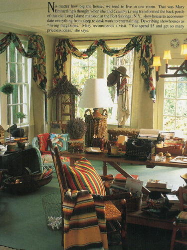 Vintage Country Living Back Porch Room