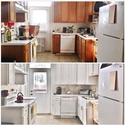 Kitchen Makeovers On A Budget Before And After budget kitchen makeover — hometalk decorating ideas