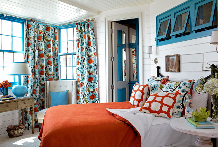 Bedroom Decorating Ideas Blue And Orange colorful home decorating ideas - decorating with color