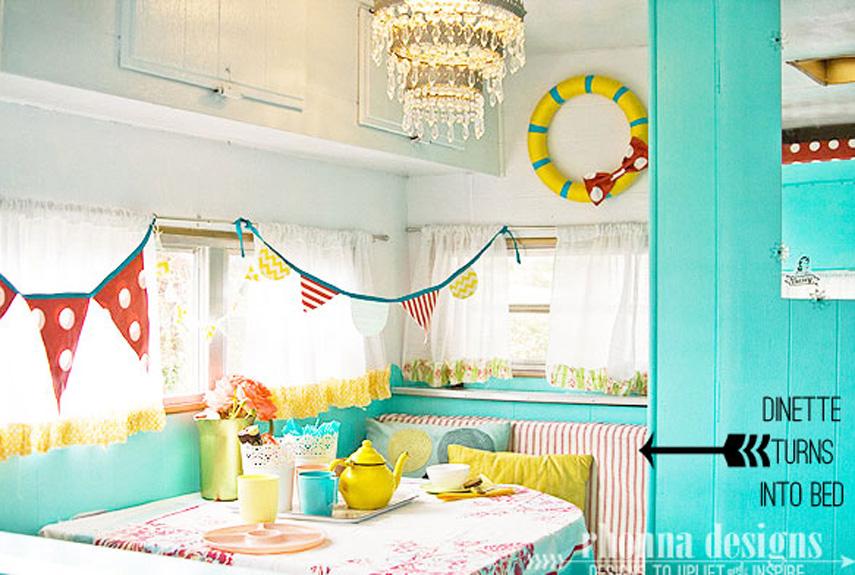 Vintage camper interior design