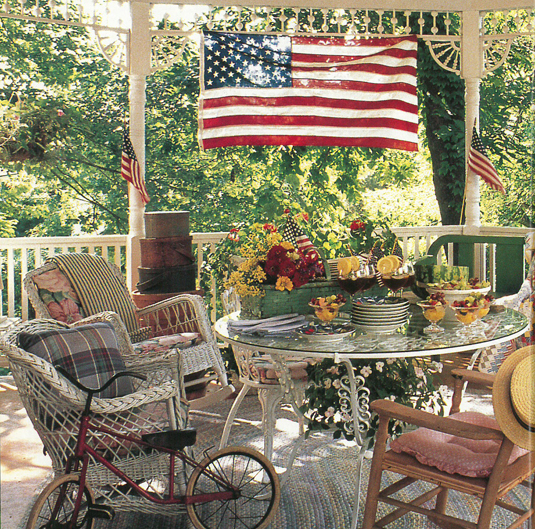 Vintage Country Living Octagonal Porch