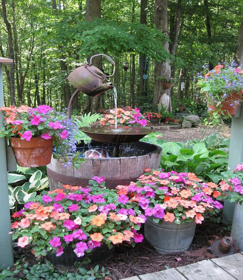 8 DIY Outdoor Fountain Ideas
