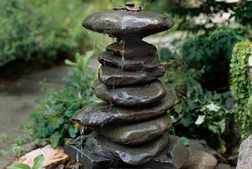 Diy outdoor fountains outdoor fountain ideas Home made water feature