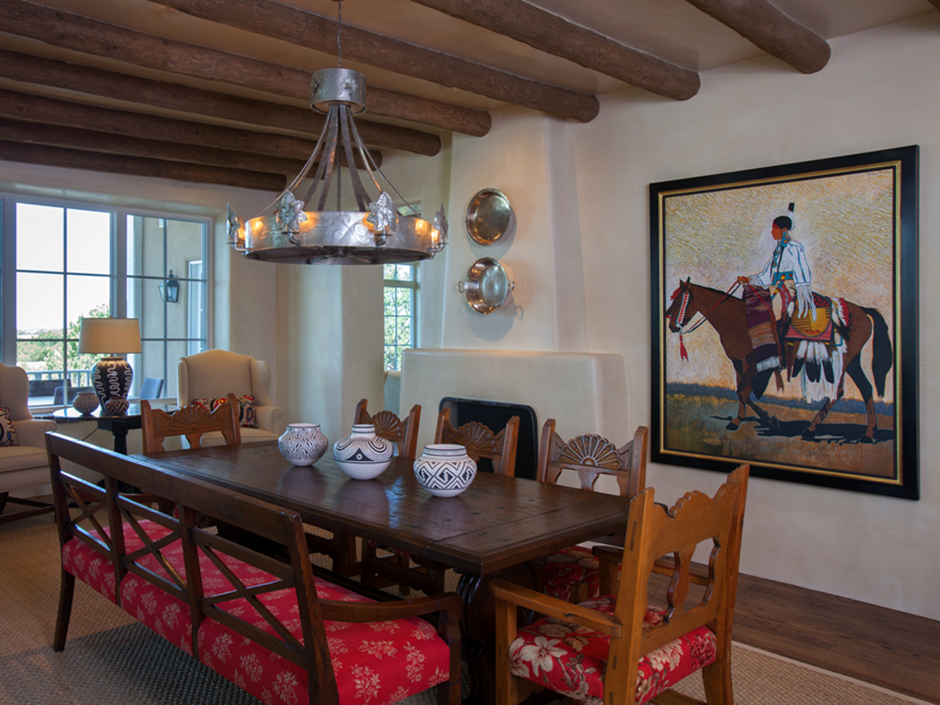 Santa Fe New Mexico Adobe Home Southwestern Decorating Ideas - Adobe home design