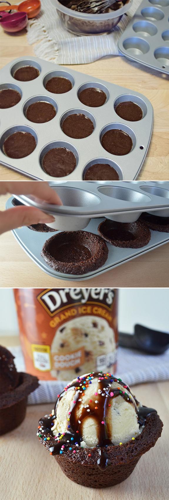 Dondurmalı Islak Kek Yapılışı - Muffin kalıbında dondurmalı kek