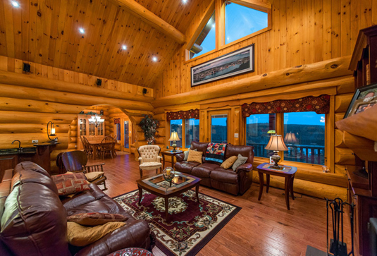 Chris Crockwell for The New York Times. Waterfront Canadian House Tour   Unique Log Homes