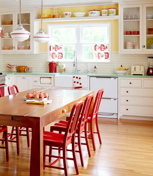 Red Country Kitchen Decorating Ideas yellow and red country kitchen c intended design inspiration