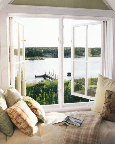Waterfront Home Design Ideas: Waterfront Window Seat