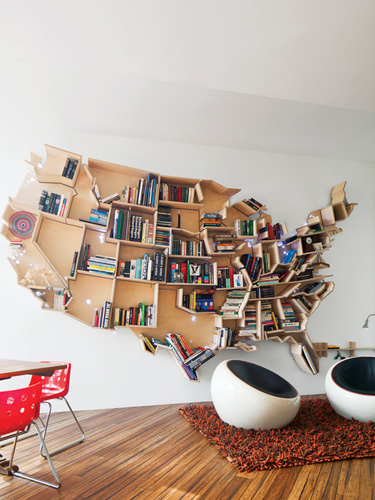 from coffee tables to bookshelves we wish we had all of these united states shaped products in our homes - Awesome Home Decor