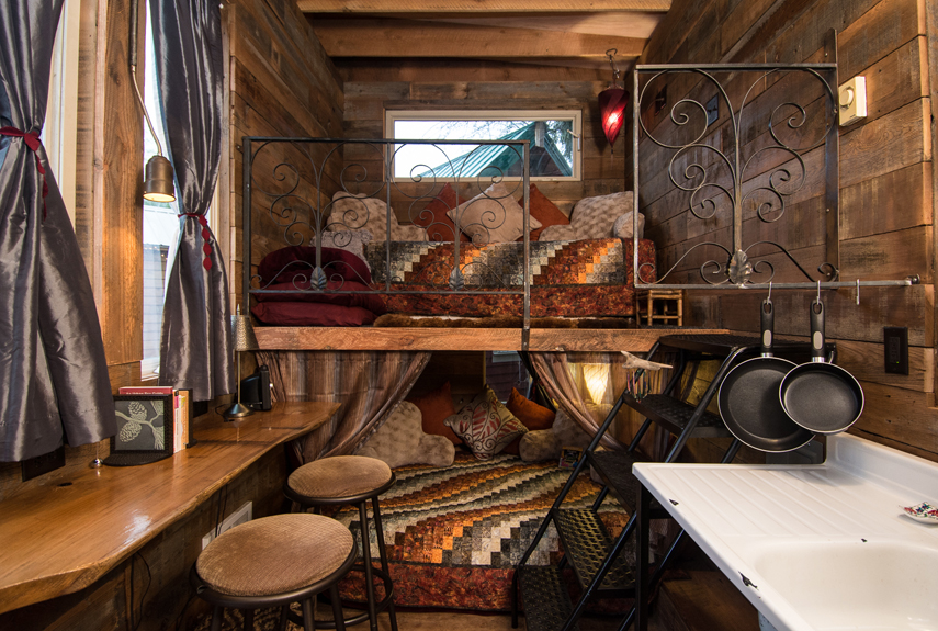 Tiny House Inside And Out caravan tiny house hotel - tiny house movement