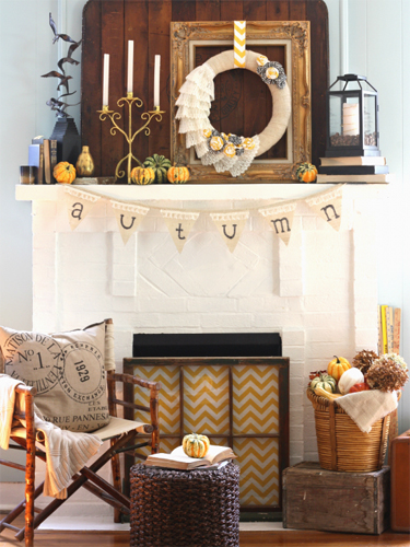 Home Collections  No need to break the bank decorating your mantel. 31 Fall Mantel Decorating Ideas   Halloween Mantel Decorations