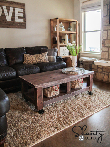 Stained Wood Coffee Table