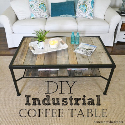 Elegant Industrial Coffee Table Makeover