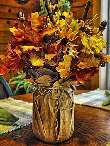 Autumn Table Setting Ideas 35 amazing fall wedding table decor ideas weddingomania 35 Fall Table Centerpieces Autumn Centerpiece Ideas