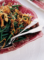 Green Beans with Lemon Butter and Frizzled Shallots