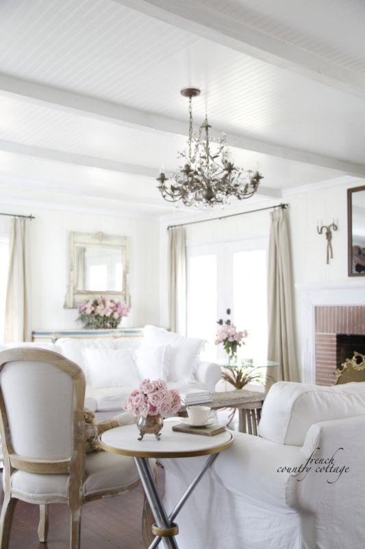 California French Country Style Cottage House Tour   Elegant Decorating  Ideas