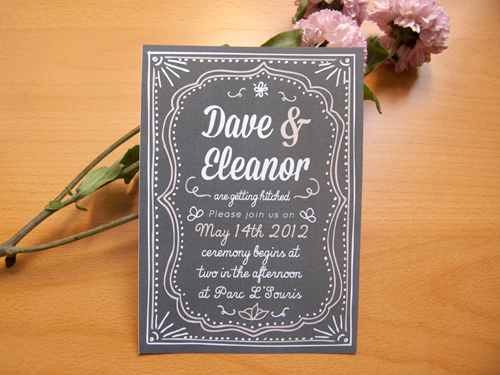 affordable handmade wedding invitations - cheap etsy wedding,