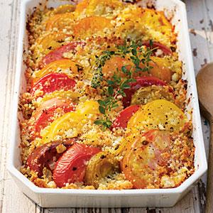 Golden Squash, Pepper, and Tomato Gratin Recipe
