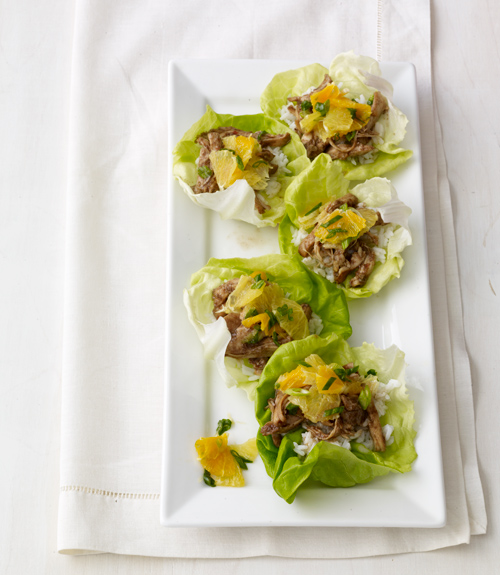 Balsamic-Ginger Chicken Lettuce Cups