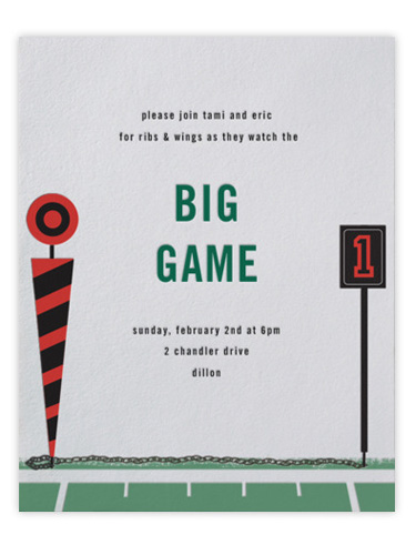 Super Bowl Party Invitations purplemoonco