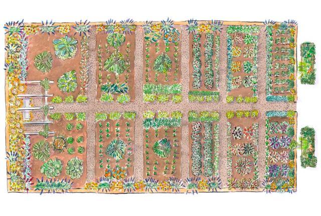 Free garden plans garden design ideas for Country vegetable garden ideas