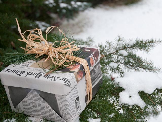 Eco Friendly Christmas eco-friendly holiday gift wrap