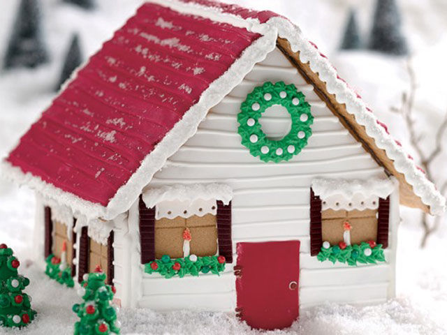 Build a child's dream house—this little gingerbread farmhouse couldn't be cuter.<br />See more at King Arthur Flour.<br />