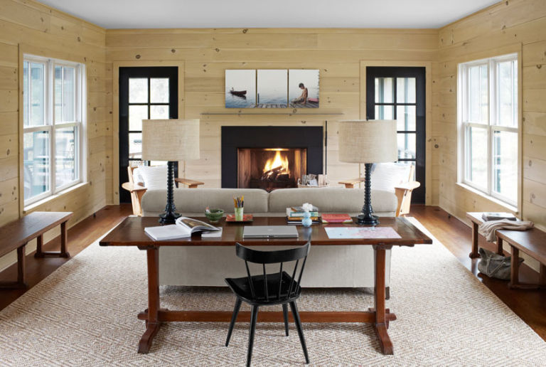 Modern country decor ideas modern connecticut vacation home for Best place to get room decor