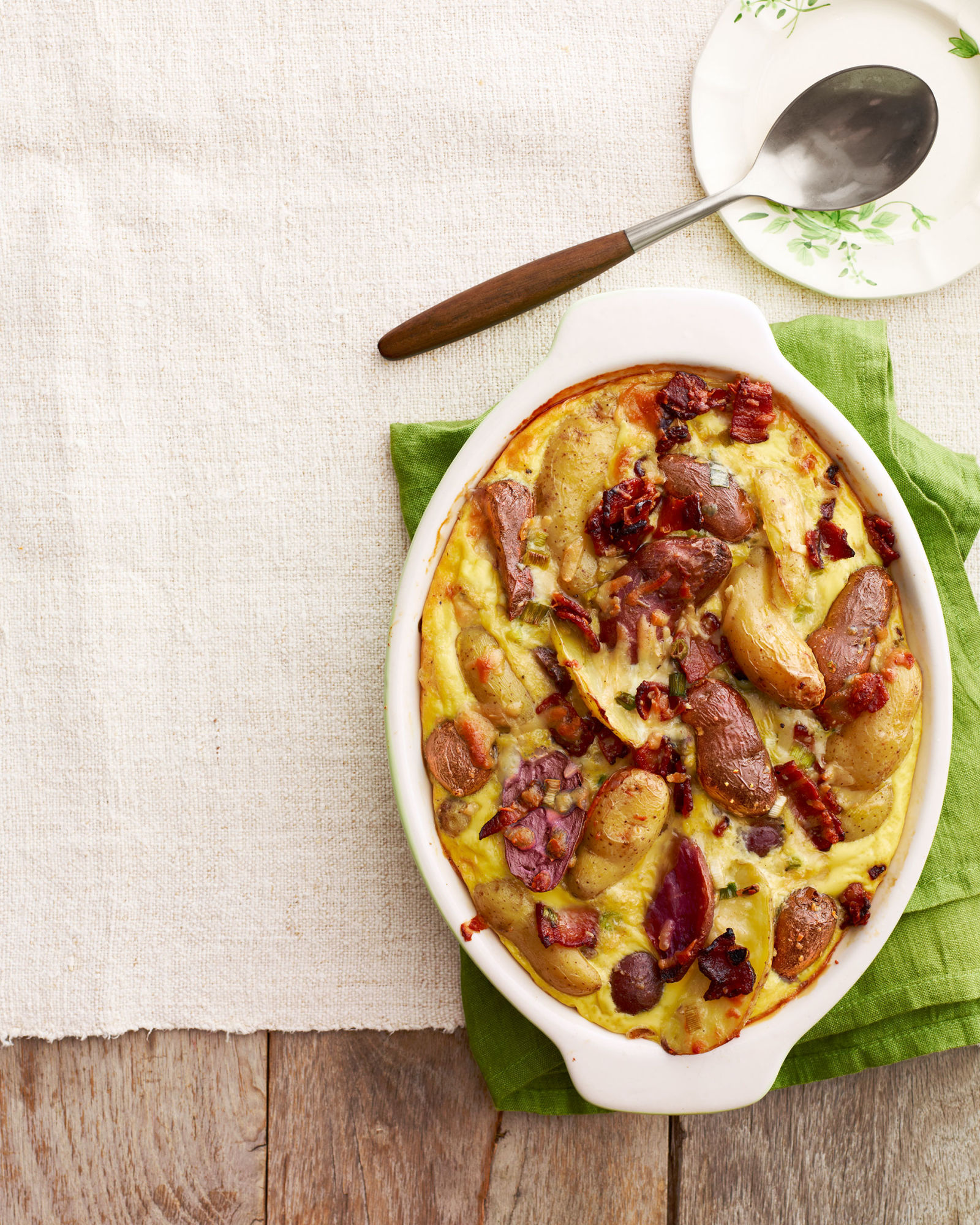 Potato And Manchego Casserole With Maple Bacon Recipe